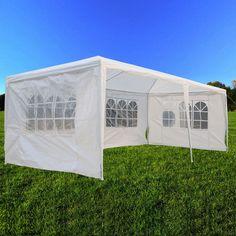 10' x 20' Party Tent Outdoor Heavy Duty Gazebo Wedding Canopy w/4 Side Walls…
