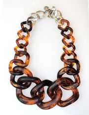 Tortoise Shell Chain Necklace by CJ Laing #Taiganholiday