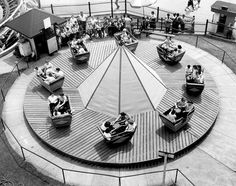 Chicago used to have the World's Largest Amusement Park at Damen and Western called Riverview.  The Bubble Bounce ride in 1955.