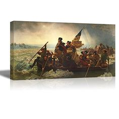 wall26 Washington Crossing the Delaware by Emanuel Gottlieb Leutze Canvas Wall Art Famous Fine Art Reproduction World Famous Painting Replica 18 W x 36 L * Read more at the image link.