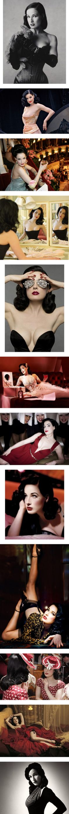 """""""Dita Von Teese"""" by straight-from-a-tea-party ❤ liked on Polyvore. I love her pin up fashion"""
