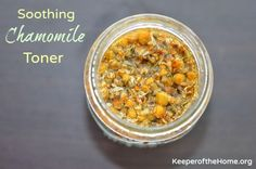 Natural Homemade Facial Toner for Clean Skin - OK..chamomile, vodka and witch hazel...three of my favorites, and all in a skin toner!  Whoo Hoo!!