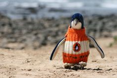 "See Penguins Wearing Tiny ""Penguin Books"" Sweaters, Knitted by the Oldest Man in Australia 