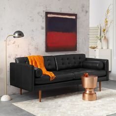 Monroe Mid-Century Leather Sofa | west elm
