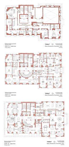 hotel floor plan 2550 N Lakeview Triplex Pe - hotel Plan Hotel, Hotel Floor Plan, Luxury Floor Plans, Modern Floor Plans, Modern House Plans, House Floor Plans, Tiny House Plans, Architecture Blueprints, House Blueprints