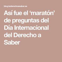 Así fue el 'maratón' de preguntas del Día Internacional del Derecho a Saber
