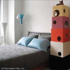 Como hacer casa de cajas de carton para gato