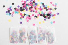 Tiny Glassine Bags of Confetti // Set of 10 Perfect for tossing at a wedding! #confetti #tissuepaperconfetti #halfinchconfetti