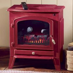 Green or Red Electric Fireplace from Seventh Avenue ® | ET42275