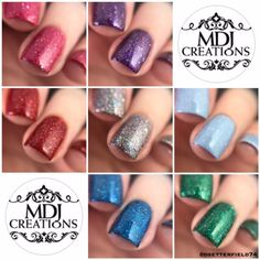 Robin Moses Inspired 7 piece collection  Discounted Indie Polish by MDJ Creations by MDJCreations on Etsy