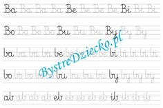 B - nauka pisania sylabami - karty pracy dla dzieci Montessori, Math Equations