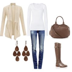 """Like the clothing n jewelry.    """"Fall"""" by honeybee20 on Polyvore"""