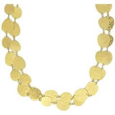Gurhan Pounded Disc Necklace - 40 ($12,900) ❤ liked on Polyvore
