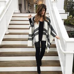 leather leggings with black sweater and bp poncho