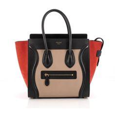 Pre-Owned Celine Tricolor Luggage Handbag Leather Micro ( 1 607d48d0f27e7