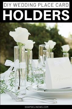 Learn how to make easy wedding place card holders using clothespins, scrapbook paper and ribbon for your wedding or event on a budget with this easy idea. Rustic Wedding Centerpieces, Diy Wedding Favors, Gifts For Wedding Party, Handmade Wedding, Wedding Ideas, Wedding Places, Wedding Place Cards, Wedding Locations, Grand Jour