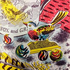 Detail from a new Emily Sutton screenprint to be published by the Penfold Press in September 2018 Bird Sculpture, Sculptures, Children's Book Illustration, Book Illustrations, Museum Of Childhood, Embroidered Bird, Curiosity Shop, Popular Art, Cool Sketches