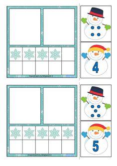 Seasons Activities, Autism Activities, Winter Activities, Kindergarten Activities, Preschool Activities, Preschool Winter, Winter Fun, Winter Theme, Math For Kids