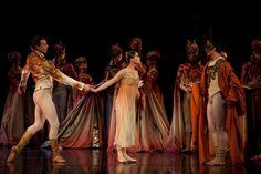 Sabi Varga, Misa Kuranaga and Nelson Madrigal in Romeo and Juliet, photo by Rosalie O'Connor.