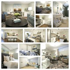 Open Floor Plan: From HGTV, cool colors and comfy designs work their way through this open design