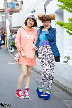 Minua (left) & Miyu (right) - both 18 years old  i will always have an obsession with Japanese Fashion <3