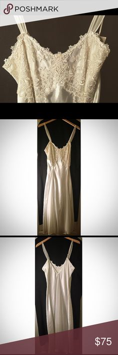 Long silk bridal slip/lingerie NWT bridal slip/lingerie in perfect condition!  Length: 49 1/2 in dentelle Intimates & Sleepwear Chemises & Slips