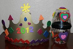 Frugal, Festive & Fun (Plastic Cup) Noise Makers & (Paper) Party Crowns to help kids ring in the New Year