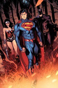 Superman Art, Batman Comic Art, Batman Comics, Dc Comics Heroes, Arte Dc Comics, Superhero Art Projects, Dc Comics Collection, Dc Trinity, Hq Dc