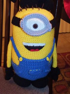 Minions Insipred Crocheted Doll by ConniesSpot on Etsy, $24.95