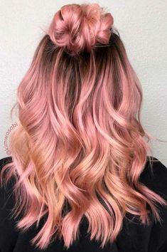 Rodegold peachy hair