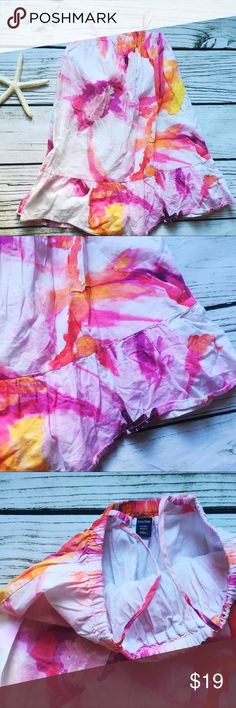 Gap • Girls size 4 Tie dye Sundress fully lined Gap Girls size 4 Pink w yellow, and purple Tie dye Jumper dress with elastic detail, spaghetti straps & ruffled hem fully lined 100% Cotton pre-owned EUC no rips or stains non-smoking home GAP Dresses Casual