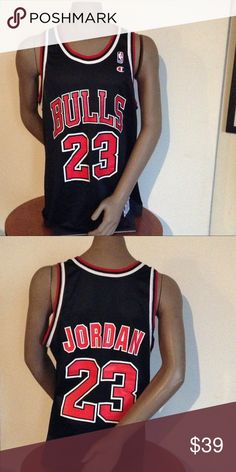 Vintage champion Michael Jordan Red Bulls Jersey Ike new condition Champion Shirts Tank Tops