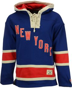 Old Time Hockey Men s New York Rangers Lacer Hoodie. DETAILS This Old Time  Hockey NHL 5ec17a380