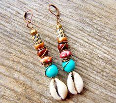 Tribal Earrings Boho Earrings Afrocentric by ZenCustomJewelry