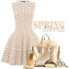 Spring Time by lisa-holt on Polyvore featuring Alexander McQueen, Christian Louboutin, MICHAEL Michael Kors, Juicy Couture, Christian Dior and Distinctive Designs