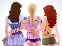 Tessa, Emma and Clary,