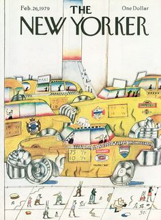 The New Yorker Cover - February 1979 Poster Print by Saul Steinberg at the Condé Nast Collection The New Yorker, New Yorker Covers, Saul Steinberg, Vintage Illustration Art, Illustrations, Vintage Poster, Up Book, Humor Grafico, Cover Art