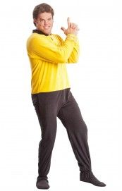 """Star Trek Command Gold Footed Adult Pajamas - """"You cannot change the laws of Physics, Jim."""""""