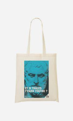 Tote Bag Si Thalès T'faire Foutre en collaboration avec Fists et Lettres – Wooop Art Shop
