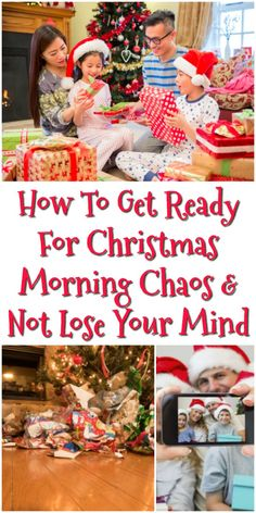 Christmas morning can be a lot of fun, but also quite chaotic. Preparing ahead of time for this chaos means you can enjoy it, instead of losing your mind. Here's how. #ad