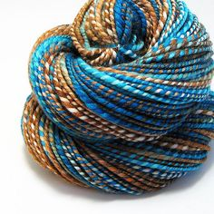 Modern Culture Handspun Yarn   Hand Dyed 80/20 Merino/Silk.   About light worsted to worsted weight.