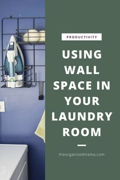 Limited on storage space in your laundry room? Need to tame the clutter? Learn effective ways to utilize wall space in small laundry rooms. Small Laundry Rooms, Small Rooms, Iron Holder, Metal Grid, Laundry Room Organization, Laundry Hacks, Small Shelves, Laundry Detergent, Wall Spaces