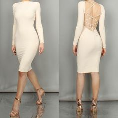 Our 'Uptown' dress in champagne // www.boomboomthelabel.com check out their website for the look you will dare to wear. Beware they aren't for everyone but I found 2 I can't wait to try on!