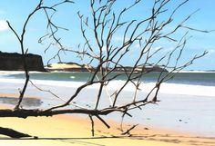 Nieuw in mijn Werk aan de Muur shop: Het strand van Pipa Brazilië