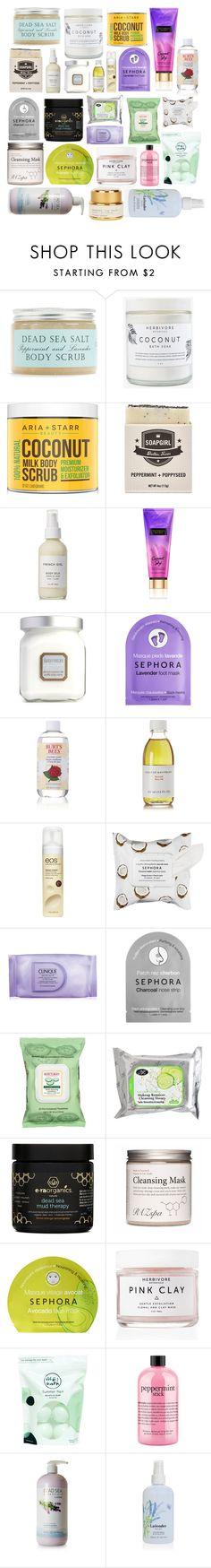 """Body Wash stuff I want"" by tychehecateartemishera ❤ liked on Polyvore featuring beauty, Herbivore, FOSSIL, French Girl, Laura Mercier, Sephora Collection, Burt's Bees, Susanne Kaufmann, Eos and Clinique"
