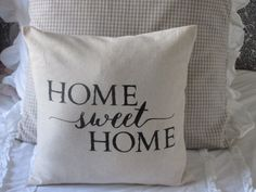 Home Sweet Home Pillow Cover by BeiFioriEmbellish on Etsy