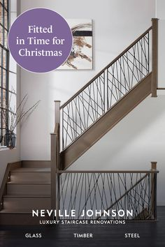 Luxury Staircase, Bespoke Staircases, Stair Banister, Banisters, Home Stairs Design, House Design, Staircase Remodel, Hallway Designs, House Stairs