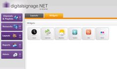 Widgets in digitalsignage.NET. Display live data on your screens quickly and easily.