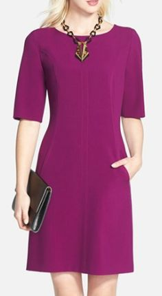 seamed a-line dress  http://rstyle.me/n/tzapepdpe