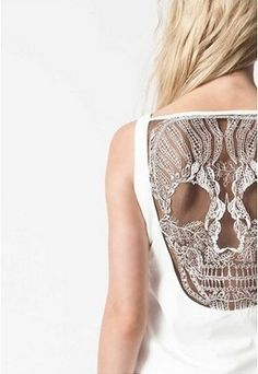 backless scull lace.